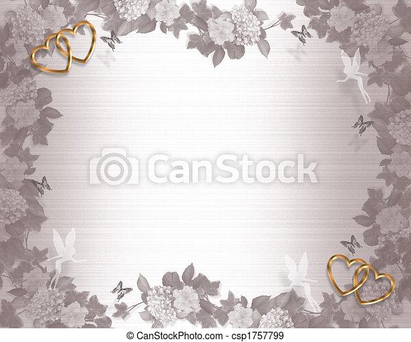 結婚式, 妖精, 背景, 招待 - csp1757799
