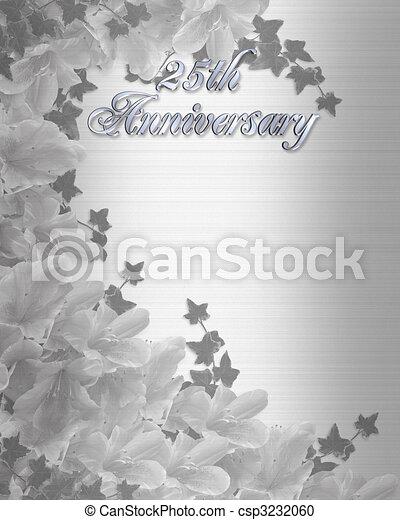 結婚式, 第25, 記念日, 招待 - csp3232060