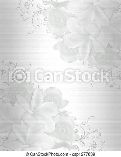 結婚式, 背景, 招待 - csp1277839