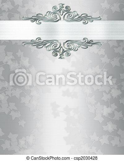 結婚式 記念日, 背景, 招待 - csp2030428