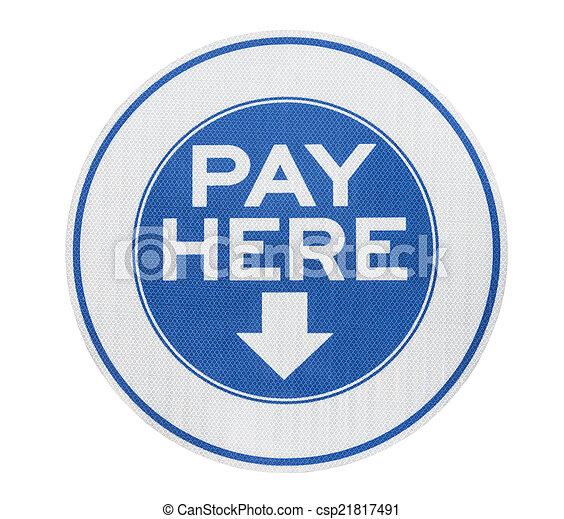 給料, ここの印 - csp21817491