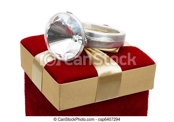 給, 戒指, 鑽石 - csp6407294