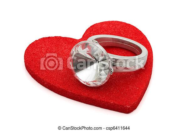 給, 戒指, 鑽石 - csp6411644