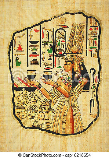 絵, エジプト人 - csp16218654