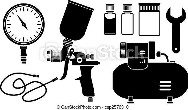 絵, スプレー, 装置 - csp25763101