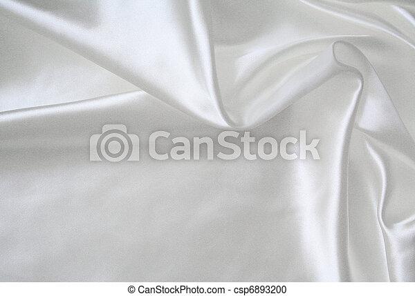 絹, 背景, 結婚式, 滑らかである, 優雅である, 白 - csp6893200