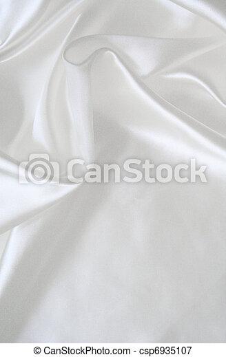絹, 背景, 結婚式, 滑らかである, 優雅である, 白 - csp6935107