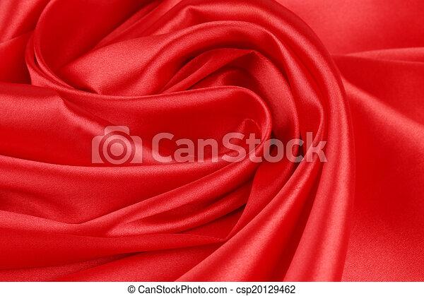 絹, drapery., 赤 - csp20129462