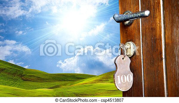 綠色的門, 世界 - csp4513807
