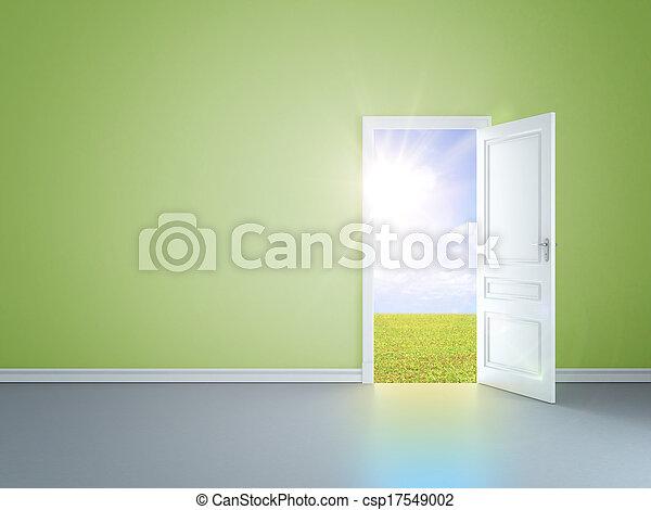 綠色的門, 房間 - csp17549002