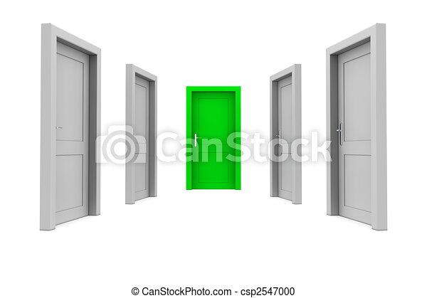 綠色的門, 選擇 - csp2547000