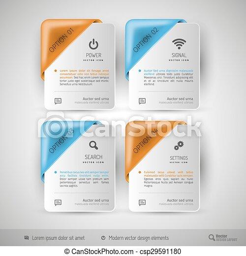 網の設計, テンプレート, ビジネス, infographics - csp29591180