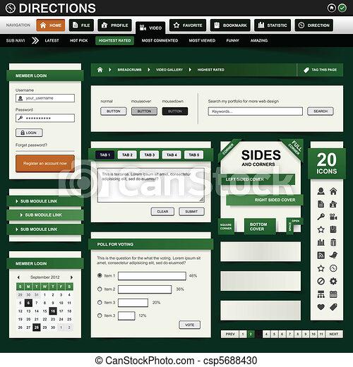 網の設計, テンプレート, 要素 - csp5688430