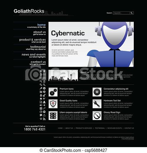 網の設計, テンプレート, 要素 - csp5688427