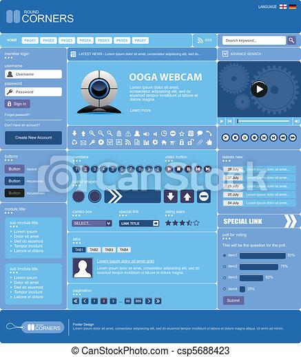 網の設計, テンプレート, 要素 - csp5688423