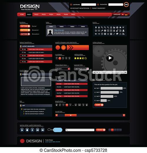 網の設計, テンプレート, 要素 - csp5733728