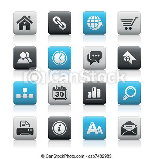 網, &, サイト, /, ボタン, 光沢がない, インターネット - csp7482983