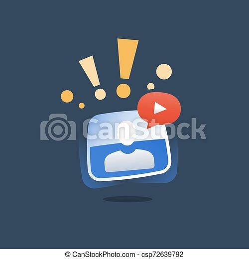 網, ビデオ, 資源, 概念, オンラインで, webinar, コース, セミナー, 指導, 呼出し, インターネット, 遠い, 教育, チュートリアル - csp72639792