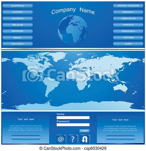 網, ベクトル, デザイン, サイト, テンプレート - csp6030429