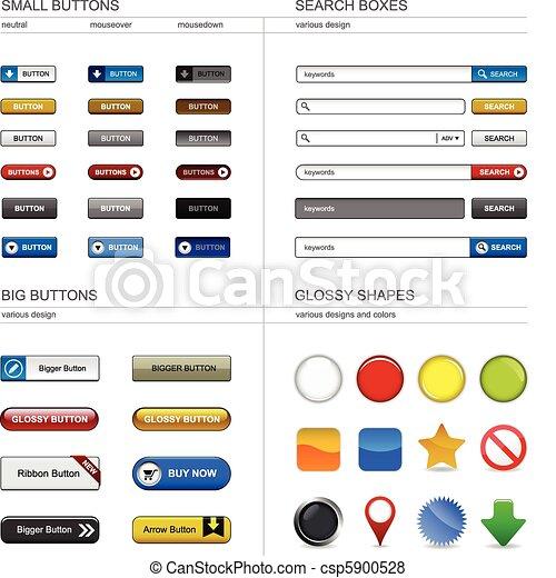 網, ボタン, デザイン要素 - csp5900528