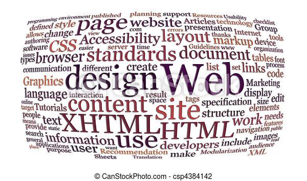 網, 単語, デザイン, 雲 - csp4384142