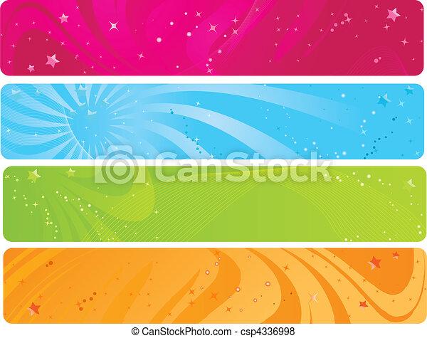 網, 旗, カラフルである - csp4336998