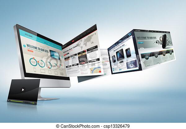 網, 概念, デザイン - csp13326479