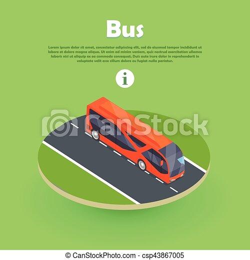 網, 等大, banner., バス, ベクトル, 部分, 道 - csp43867005