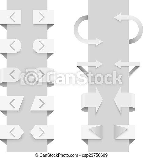 網, elements., 矢, スライダー, ベクトル, テンプレート - csp23750609
