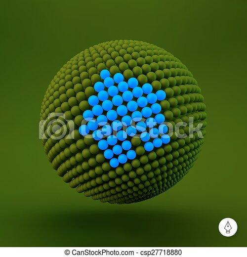 網, icon., 3d, ベクトル, 印。, デザイン, element., illustration., 家 - csp27718880