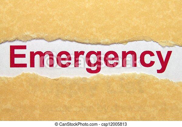 緊急事件 - csp12005813