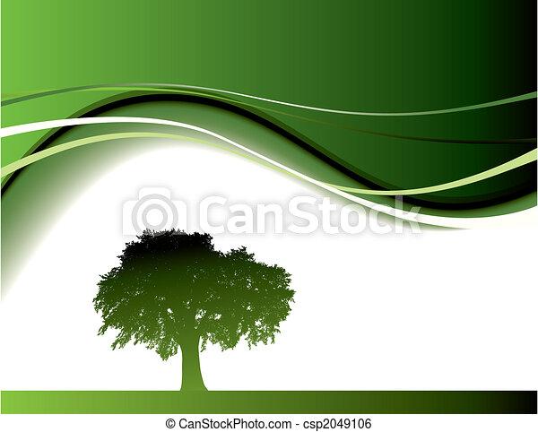 緑の木, 背景 - csp2049106