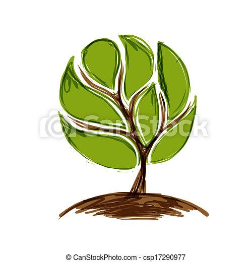 緑の概要, 木, あなたの, デザイン - csp17290977