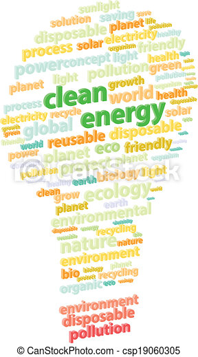 緑, エネルギー, 単語, きれいにしなさい, 雲 - csp19060305