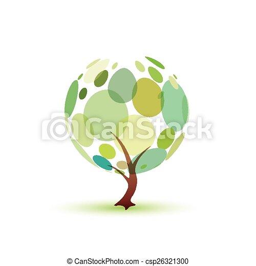 緑, シンボル, 木 - csp26321300