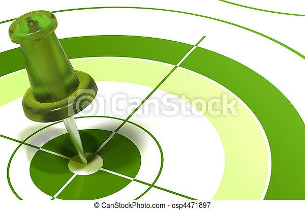 緑, ターゲット, pushpin - csp4471897