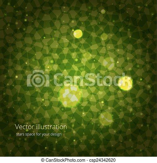 緑, 抽象概念, デザイン, あなたの - csp24342620