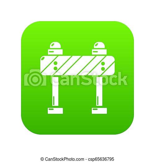 緑, 道の ブロック, アイコン - csp65636795