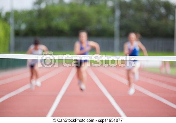 線, 終わり, ∥に向かって∥, 運動選手, 動くこと - csp11951077