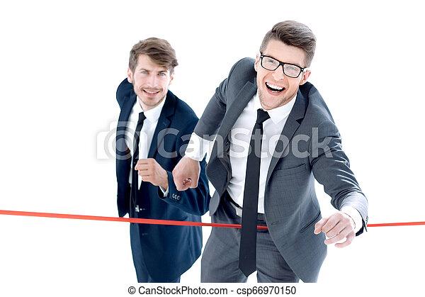 線, 終わり, ビジネスマン, 交差点 - csp66970150