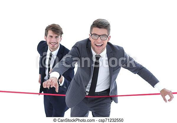 線, 終わり, ビジネスマン, 交差点 - csp71232550