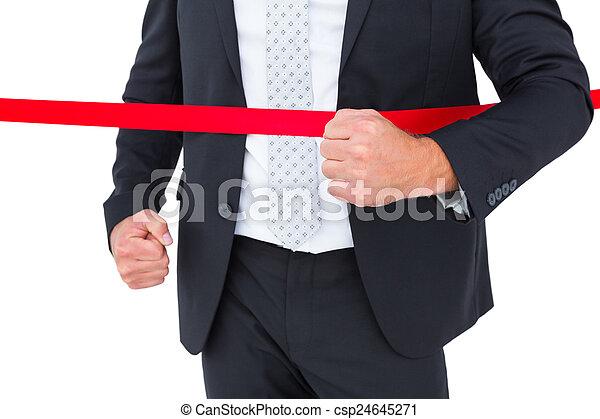 線, 終わり, 交差, ビジネスマン - csp24645271