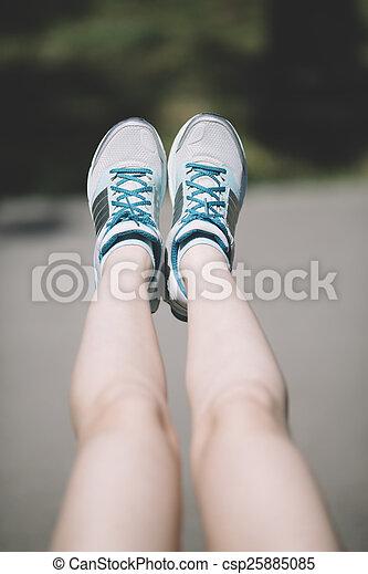 練習, 女, 若い, 足 - csp25885085