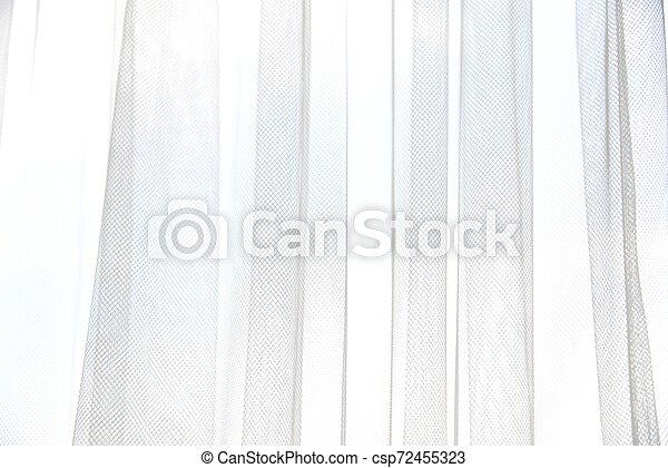 縦, ライト, 抽象的, folds., texture., 織物, バックグラウンド。, 窓, カーテン, 影, tulle, 柔らかい, 白, curtains. - csp72455323