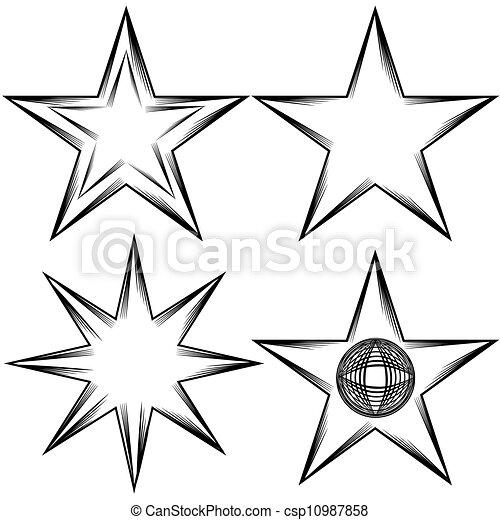 繁榮, 集合, 星 - csp10987858