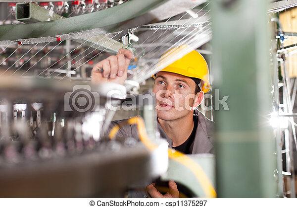 織物, 点検, コントローラー, 品質, 工場 - csp11375297