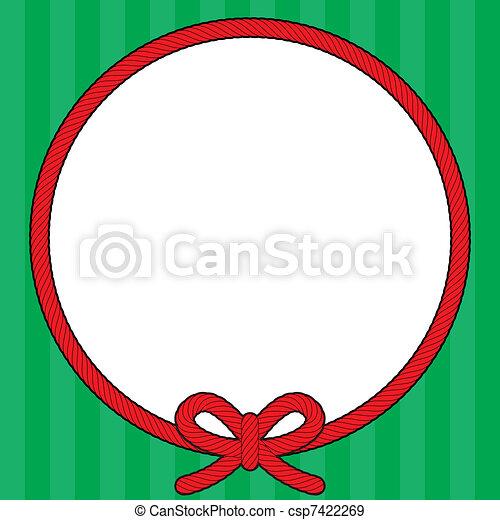 繩子, 框架, 花冠, 聖誕節 - csp7422269