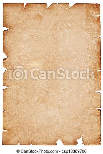 纸, 羊皮纸 - csp13389706
