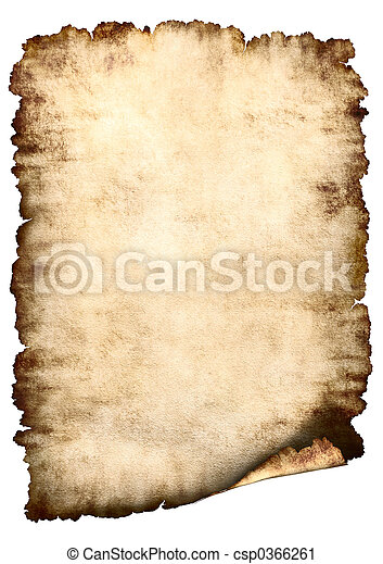 纸, 羊皮纸, 背景 - csp0366261