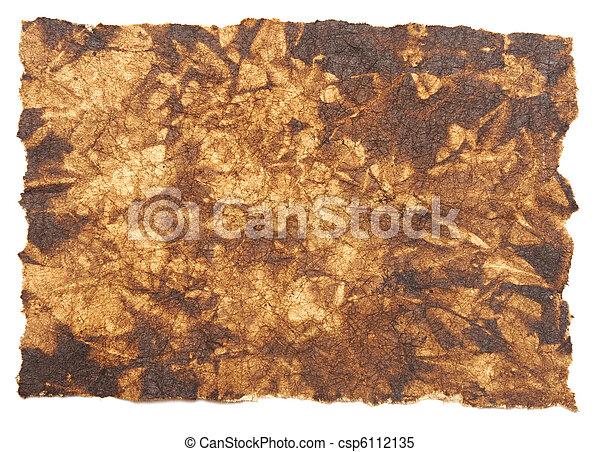 纸, 羊皮纸, 背景 - csp6112135
